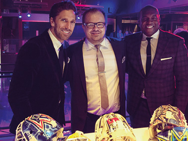 David with Henrik Lundqvist and Kevin Weekes