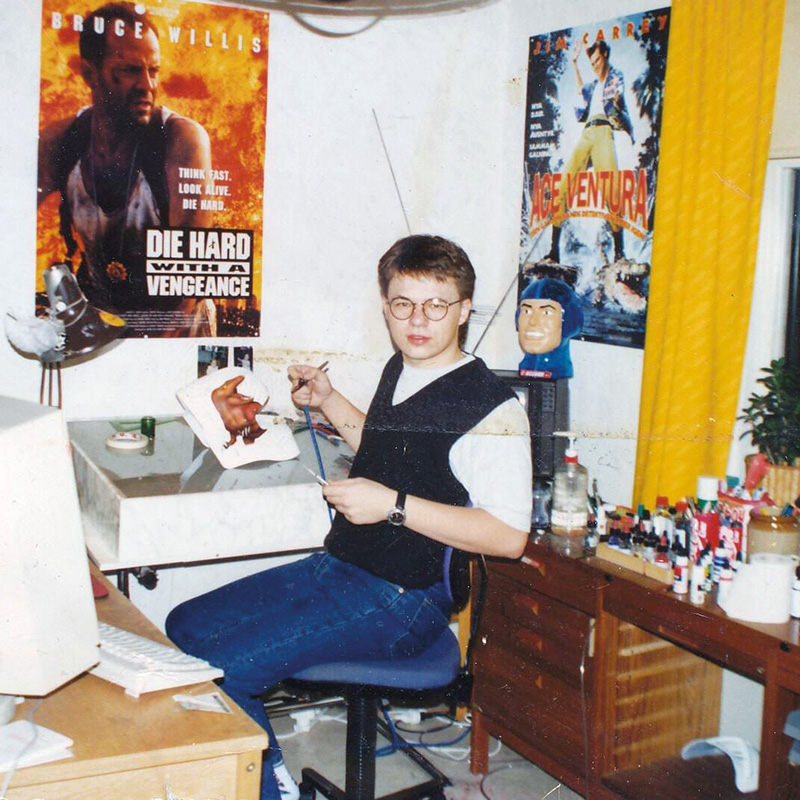 David painting as teenager